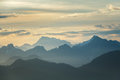 Daybreak Over Mountains Royalty Free Stock Photo
