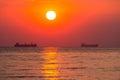 Daybreak at sea fantastic in odessa ukraine Royalty Free Stock Photography