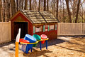 Daycare playhouse and toys Stock Image