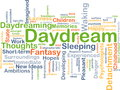 Daydream background concept wordcloud illustration of Royalty Free Stock Photos