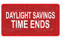 Daylight savings time ends Royalty Free Stock Photo