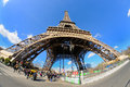 Daylight view of the eiffel tower la tour eiffel is an iron lattice tower located on the champ de mars paris mar march in paris Royalty Free Stock Images