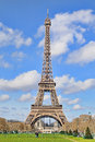 Daylight view of the eiffel tower la tour eiffel paris mar is an iron lattice located on champ de mars on march in paris Stock Photos