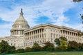 Daytime Landscape US Capitol Building Washington DC Grass Blue S Royalty Free Stock Photo