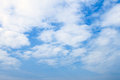 Daytime sky blue in with many cloud Stock Image