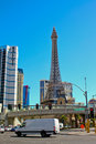 Daytime view of the eiffel tower at the paris hotel and casino las vegas nv Stock Image