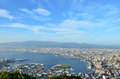 Daytime view of Hakodate. Royalty Free Stock Image