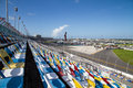Daytona grandstand stadium and seats in speedway florida usa Stock Photos