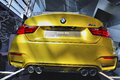 Dazzling colors of bmw latest models at expo center in munich Stock Photos