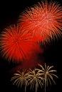 Dazzling fireworks bursts over Lake Tahoe Royalty Free Stock Photo
