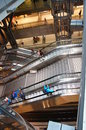 Db europaplatz escalator situation berlin germany date interior view important communications hub rail Stock Images
