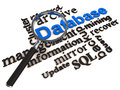 Dbms database management system Royalty Free Stock Image