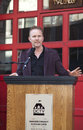 Dctv cinema new york ny may documentary filmmaker morgan spurlock attends the groundbreaking ceremony at on may in new york Royalty Free Stock Photo