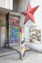 DDR sign and red star in Berlin Stock Photos