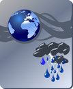 De aard van het gevaar - zware regen Stock Afbeeldingen