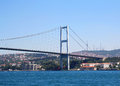 De abril bridge scenic view of over tejo river lisbon portugal Royalty Free Stock Photo