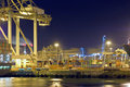 De activiteit van de haven Stock Afbeeldingen