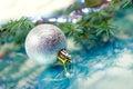 De ballen .christmas van Kerstmis Stock Afbeeldingen