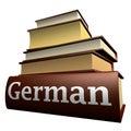 De boeken van het onderwijs - het Duits Stock Afbeeldingen