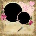 De Dag van de gelukkige Valentijnskaart - het Uitstekende Album van de Foto. Royalty-vrije Stock Afbeelding