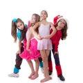 De dansschool van jonge geitjes Royalty-vrije Stock Afbeeldingen
