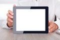 De digitale tablet van de mensenholding Stock Afbeelding