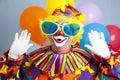 De dwaze Verrassing van de Clown Royalty-vrije Stock Afbeeldingen