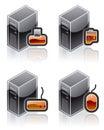 De Elementen van het ontwerp 51e. Geplaatste de Pictogrammen van de Computer en van de Software van Internet Royalty-vrije Stock Afbeeldingen