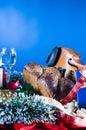 De feestelijke voorwerpen van het stilleven Stock Afbeelding