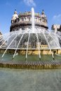 De ferrari square genoa fountain in in italy Royalty Free Stock Photos
