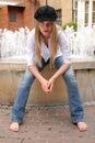 De fontein Stock Foto