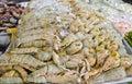 De garnalen van bidsprinkhanen met ijs Stock Afbeeldingen