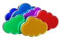 De gegevensverwerkingsconcept van de wolk Stock Foto's
