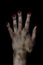 De gekneuste Dode Vrouwelijke Manipulatie van de Foto van de Hand Royalty-vrije Stock Afbeeldingen