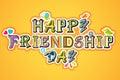 De gelukkige Dag van de Vriendschap Royalty-vrije Stock Foto's