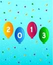 De gelukkige Vector van het Nieuwjaar 2013 Royalty-vrije Stock Foto's