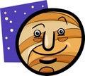 De grappige illustratie van het de planeetbeeldverhaal van jupiter Stock Foto