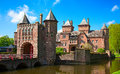 De haar castle ancient near utrecht netherlands Royalty Free Stock Photos