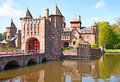 De haar castle ancient near utrecht netherlands Stock Photos