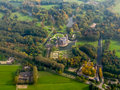 De haar castle haarzuilens holland aerial view of and gardens in in the province of utrecht the netherlands Royalty Free Stock Photo