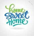 De hand ?van het huis zoete huis? het van letters voorzien (vector) Royalty-vrije Stock Afbeeldingen