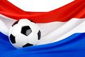 De hartstocht van Holland voor voetbal Stock Foto's