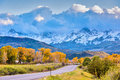 De herfst in colorado Stock Afbeelding