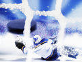 But de hockey sur glace Photos stock