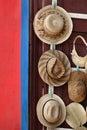 De hoeden van het stro Stock Afbeelding