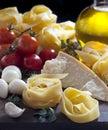 De Italiaanse Ingrediënten van het Voedsel Stock Fotografie