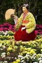 De Japanse geisha van de bloem   Royalty-vrije Stock Afbeelding