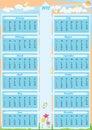 De Kalender Arrow_eps van het jaar 2012 Stock Foto's