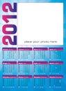 De kalender het Italiaans en het Engels van 2012 Royalty-vrije Stock Afbeeldingen