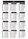 De kalender van 2011 Stock Afbeeldingen